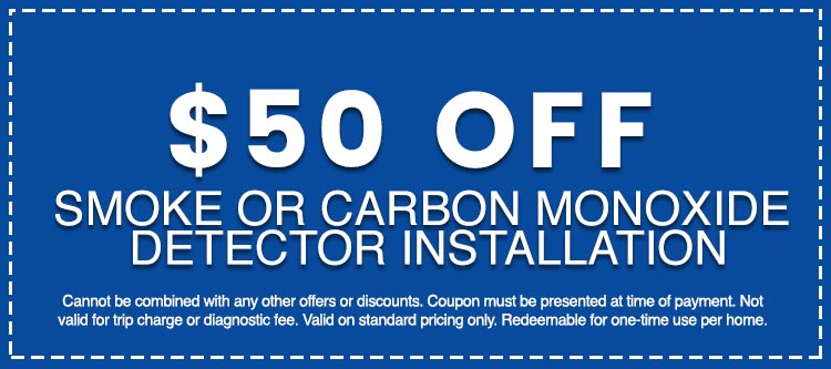 Discounts on Smoke or Carbon Monoxide Detector Installation